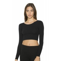 American Apparel Womens L/S Crop Top