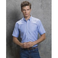 Kustom Kit Mens S/S Slim Fit Shirt