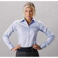 Kustom Kit Ladies L/Sleeve Oxford Shirt