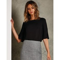 Clayton & Ford Ladies Fluted Sleeve Top
