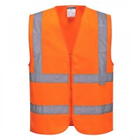 Hi-Vis Zipped Band & Brace Vest