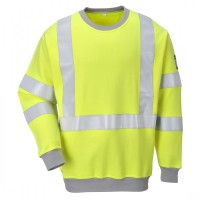 Flame Resistant Anti-Static Hi-Vis Sweatshirt