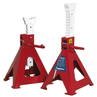Axle Stands (Pair) 10tonne Capacity per Stand Auto Rise Ratchet