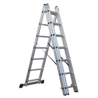 Aluminium Extension Combination Ladder 3x7 EN 131