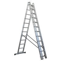 Aluminium Extension Combination Ladder 3x12 EN 131