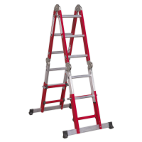 Aluminium Multipurpose Ladder EN 131 Adjustable Height