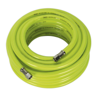 Air Hose High Visibility 15m x Ø8mm with 1/4