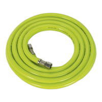 Air Hose High Visibility 5m x Ø8mm with 1/4