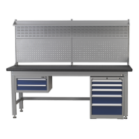 1.8m Complete Industrial Workstation & Cabinet Combo