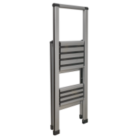 Aluminium Professional Folding Step Ladder 2-Step 150kg Capacity