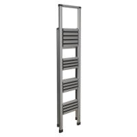 Aluminium Professional Folding Step Ladder 4-Step 150kg Capacity