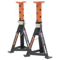 Axle Stands (Pair) 3tonne Capacity per Stand Orange