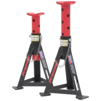 Axle Stands (Pair) 3tonne Capacity per Stand - Red