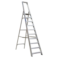 Aluminium Step Ladder 10-Tread Industrial BS 2037/1