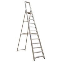 Aluminium Step Ladder 12-Tread Industrial BS 2037/1