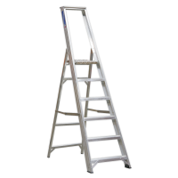 Aluminium Step Ladder 6-Tread Industrial BS 2037/1