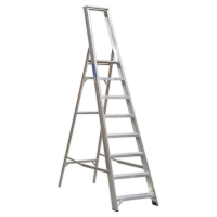 Aluminium Step Ladder 8-Tread Industrial BS 2037/1