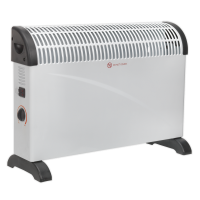 Convector Heater 2000W/230V 3 Heat Settings Thermostat