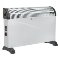 Convector Heater 2000W 3 Heat Settings Thermostat Turbo Fan