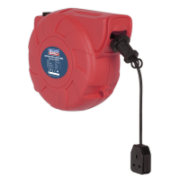 Cable Reel System Retractable 15m 1 x 230V Socket