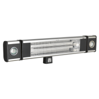 High Efficiency Carbon Fibre Infrared Wall Heater 1800W/230V with LED Lights