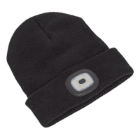 Beanie Hat 4 SMD LED USB Rechargeable