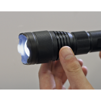 Aluminium Torch 10W T6 CREE LED Adjustable Focus Rechargeable with USB Port