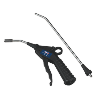 Air Blow Gun with Safety Nozzle & 2 Extensions