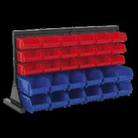 Bin Storage System Bench Mounting 30 Bins