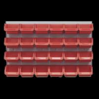 Bin & Panel Combination 24 Bins - Red