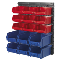 Bin Storage System Wall Mounting 15 Bins