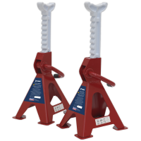 Axle Stands (Pair) 2tonne Capacity per Stand Ratchet Type
