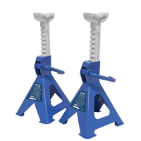 Axle Stands (Pair) 2tonne per Stand Ratchet Type - Blue