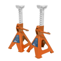 Axle Stands (Pair) 2tonne per Stand Ratchet Type - Orange