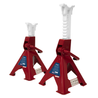 Axle Stands (Pair) 3tonne Capacity per Stand Ratchet Type
